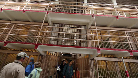 pan from ceiling to ground - Alcatraz Stock Video Footage