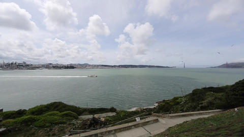 view of san Francisco from Alcatraz Footage