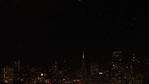 rare- shooting star on san Francisco skyline Footage