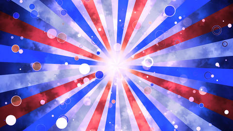 Patriotic Grunge Sun Burst Animation