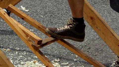 Pole lathe - pedal 2 Footage