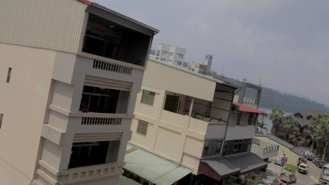 birds eye tilt shot at the town of ita thao Stock Video Footage