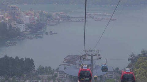 cable car with view of sun moon lake ita thao 2 Footage