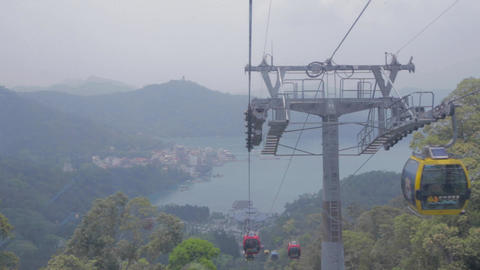 cable car with view of sun moon lake ita thao 3 Footage