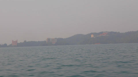 view of shueishe from the boat Footage