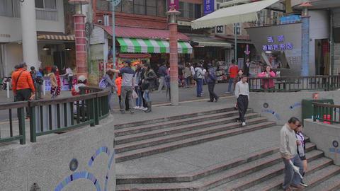 people walk at shueshe pier 4 Footage