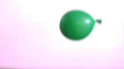 Green bouncing water balloon Stock Video Footage