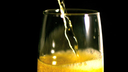 Champagne being poured Footage