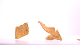 Tortilla chips falling Stock Video Footage