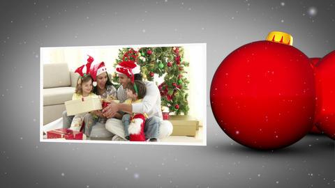 Christmas family animation Stock Video Footage