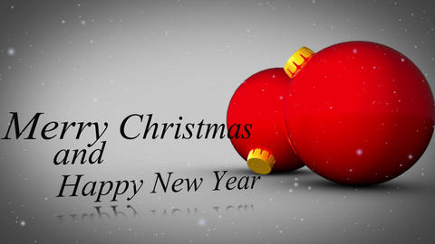 Merry christmas and happy new year animation Animation