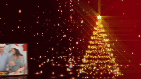 Christmas tree animation Stock Video Footage