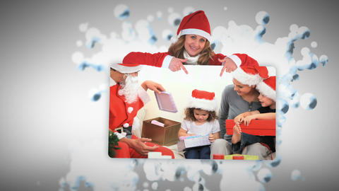 Christmas animation with families Animation