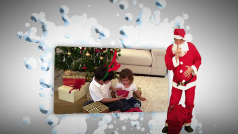Christmas animation with children Stock Video Footage
