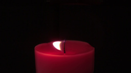 Pink candle extinguished by a breeze Footage