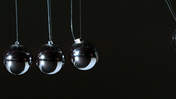 Newtons cradle close up Footage