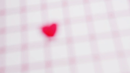 Pink heart marking out valentines day on calendar Stock Video Footage