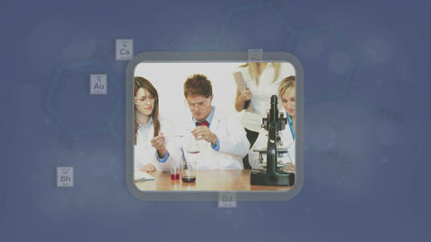 Montage of chemistry and pharmaceutical clips Stock Video Footage