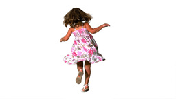 Girl twirling in floral dress Stock Video Footage