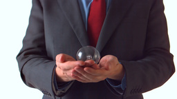 Man in suit throwing a bulb Stock Video Footage