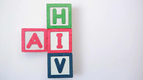 HIV and aids spelled out in blocks Footage