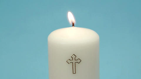 Christian Candle Burning stock footage