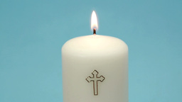 Christian candle burning Stock Video Footage