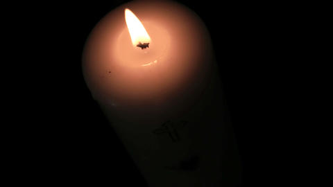 Candle burning brightly Footage