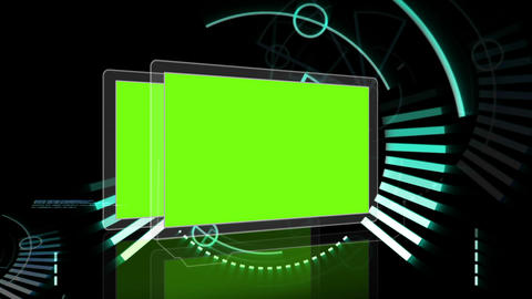 Hand scrolling through futuristic interface Animation