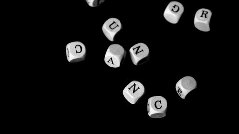 Lung cancer dice falling together Stock Video Footage