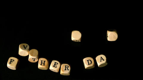 Fathers day dice falling together Stock Video Footage