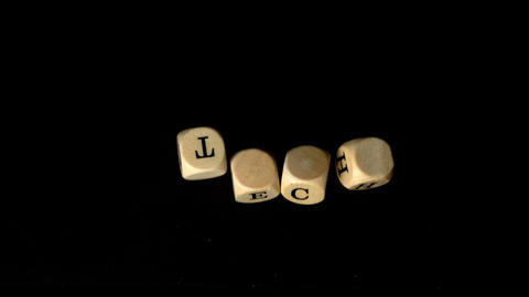 Tech Dice Falling Together stock footage