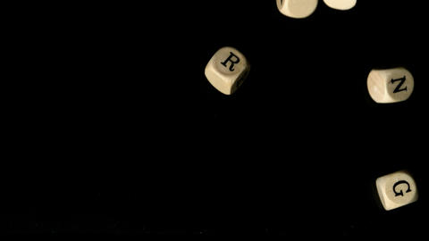 Networking dice falling together Stock Video Footage
