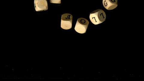 Erfolg dice falling together Stock Video Footage