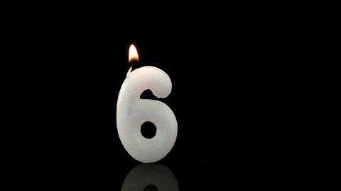 Sixth birthday candle Footage