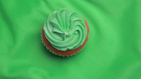 St patricks day cupcake revolving Footage