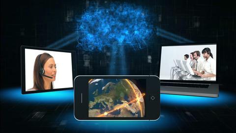 Telecoms montage Animation