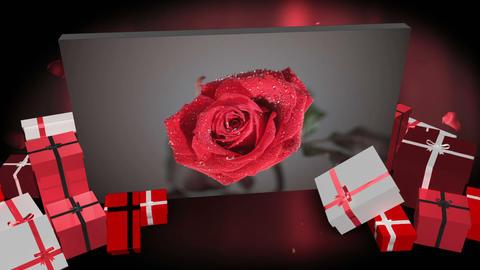 Valentines day montage Animation