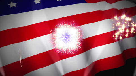 Independence day animation Stock Video Footage