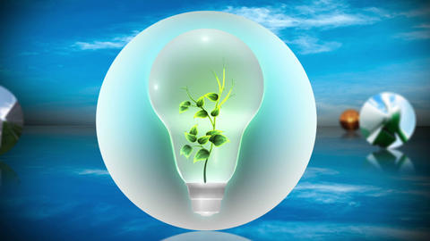 Renewable energy and recycling montage Stock Video Footage