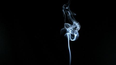 White smoke elegantly rising Stock Video Footage