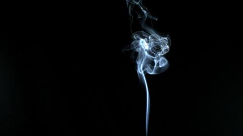 White smoke elegantly rising Footage