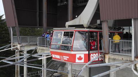 close angle grouse mountain cable car skyride arri Footage
