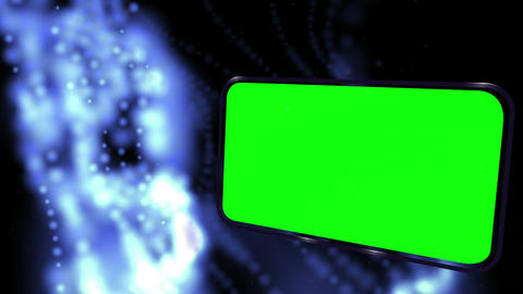 Montage of green screens on galactic background Animation