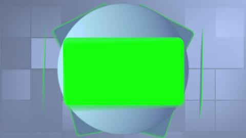 Montage of green screens interacting like a tablet Stock Video Footage