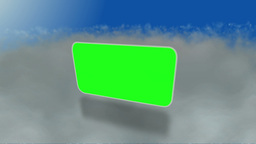 Montage of green screens over the clouds Animation