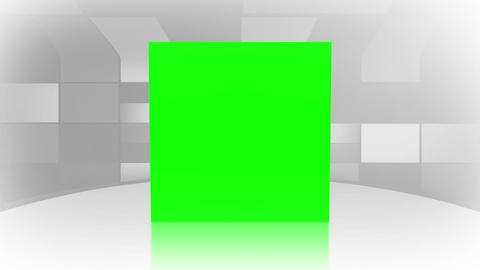 Green screens bouncing on a white surface Stock Video Footage