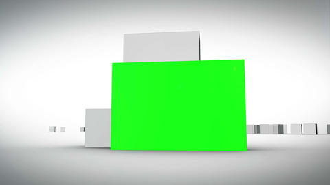 Cubes forming a chroma key space Animation