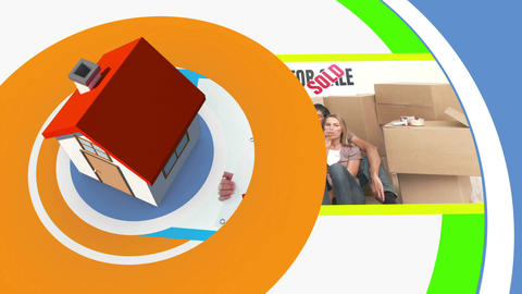 Moving home montage with copyspace Animation