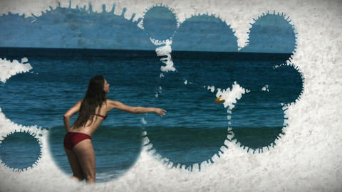 Slow motion beach montage Stock Video Footage